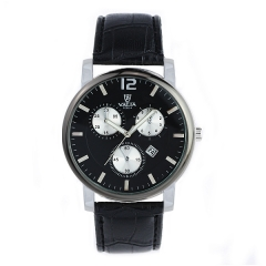 Valia 8262-4 Date Display Bla Dial Quartz Watch
