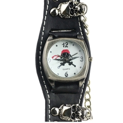 Skull Dial Punk Style Quartz Watch