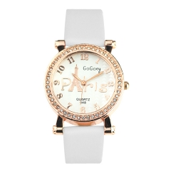 GoGoey 048 Ladies' Rhinestone Rose Gold Bezel Quartz Watch
