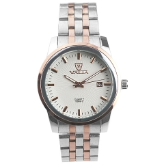 Valia 8268-3 Date Display Steel Batons Semi-steel Quartz Watch