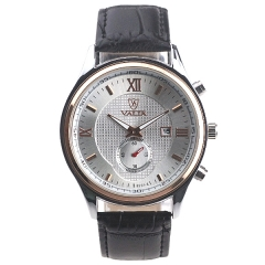 Valia 8231-3 Date Display Two And Half Pins Semi-steel Quartz Watch