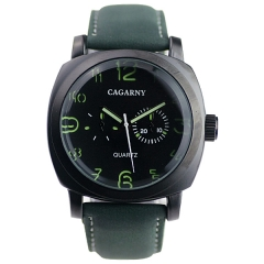 Cagarny 6833 Matte Bezel Luminous Hands Advanced Quartz Watch