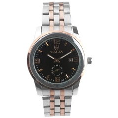 Valia 8268-4 Date Display Two And Half Pins Semi-steel Quartz Watch