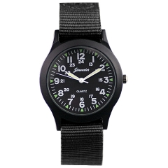 Jinnaier Black Dial Nylon Strap Quartz Watch