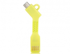 1.5CM Micro USB Charging Data Cable with Key Chain