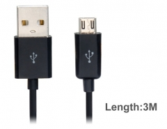 3 m Micro USB Charging Data Cable for Cell Phones