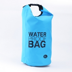Waterproof Dry Bag, 500D PVC Fabric,5L for Diving, Kayaking, Swimming, Boating, Fishing | Watertight Roll-Top Closure & Detachable Adjustable Shoulder