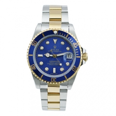 Blue Face Fish-eye Date Window Steel Strap Self-winding Watch